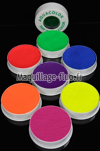 Pack Aquacolor 7 couleurs fluorescentes 30g